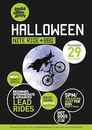 Halloween Night Ride - Pedalabikeaway