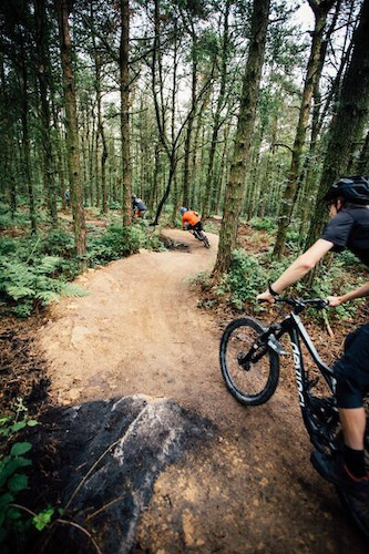 Photographer Duncan Philpott swaps his camera gear for a bike as he tears open the Lady Cannings trails. Photo Richard Baybutt