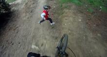 Crash: Kid vs Downhill Mountain Biker