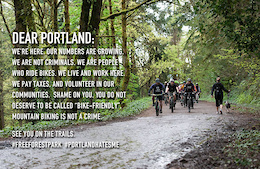 Free Forest Park Protest Ride 2015
