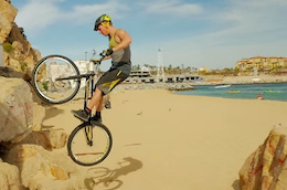 Video: Mountain Bike Trials at the Cabo Arch