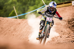 Rachel Atherton wins the UCI Mountain Bike DH World Cup overall title in Windham