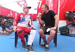 Video: Aaron Gwin - Steve Jones Post Race Interview, Val di Sole