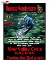 Come Ride with Vanderham in Edmonton-Tuesday May 22nd