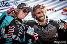 Queen Kintner and King Loron Crowned - Crankworx Whistler 2017