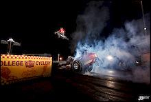 Spangler Jumps a Top Fuel Drag Car!