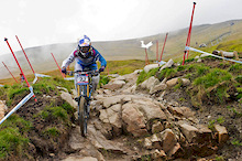 Fort William World Cup - Tracy Moseley has won the DH!