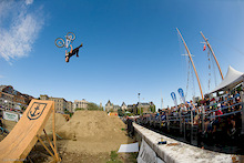 Dirt Jumps on a Barge - Jump Ship Best Trick
