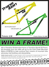 Win a Transition Frame and Support Rad Trails!
