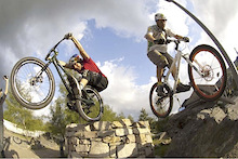 Hans Rey and Danny MacAskill go for a Ride: Mountain bike-Legends travel to Livigno!