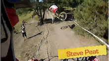 DH Course Helmet Cam Run with Steve Peat - Sea Otter 2013