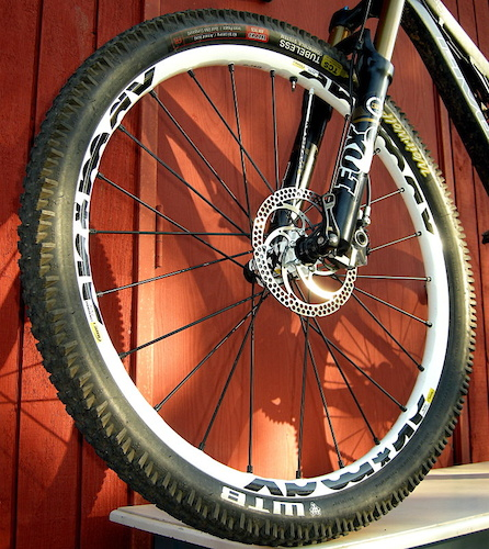 Mavic SX wheel and Weirwolf tire